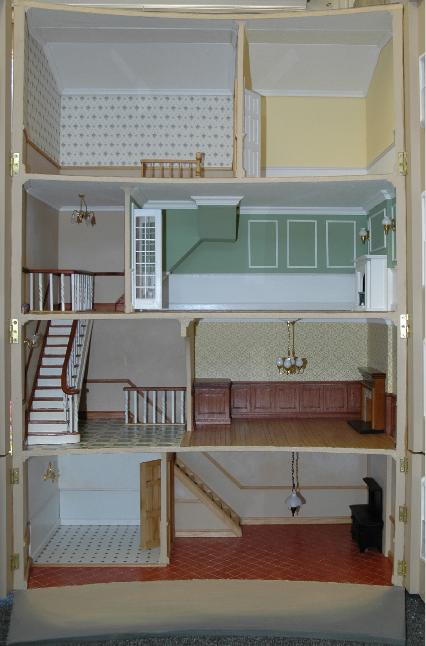 Bath dollshouse interior