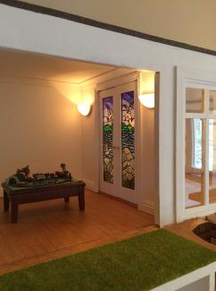 deco dollshouse stained glass doors