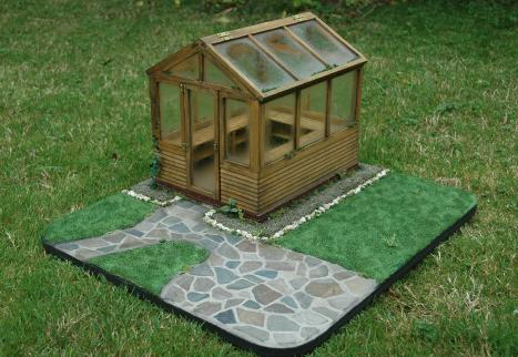 miniature glass house patio